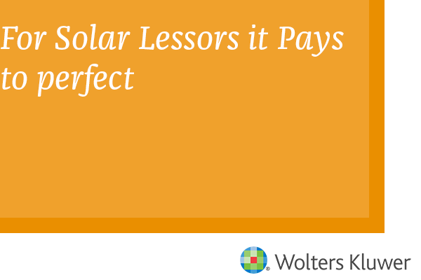 For Solar Lessors It Pays to perfect