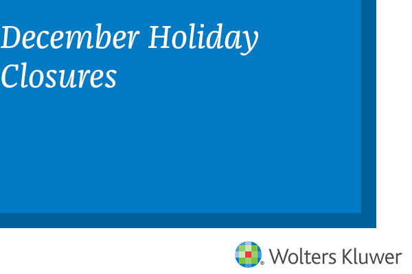 December Holiday Closures