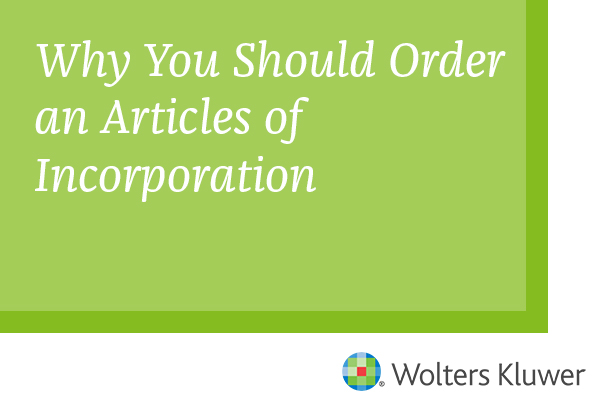 Why you Should Order an Articles of Incoporation